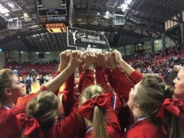 Cozad Cheer Squad-State Champions