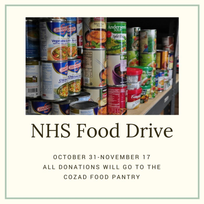 NHS Canned Food Drive