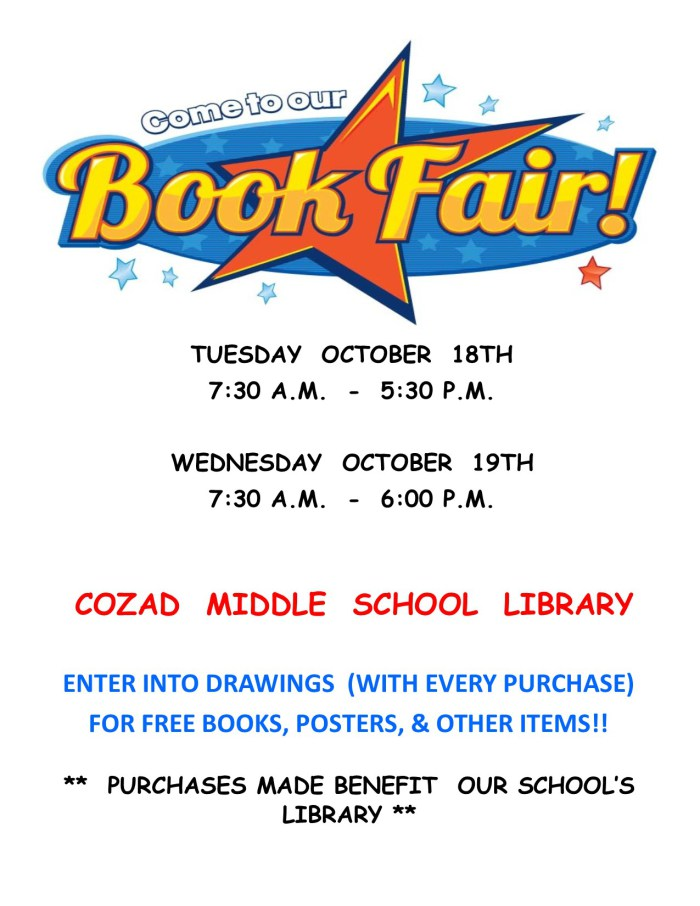Cozad Middle School Book Fair